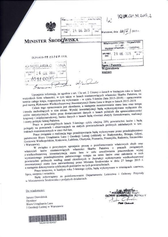 pismo_ministra_srodowiska