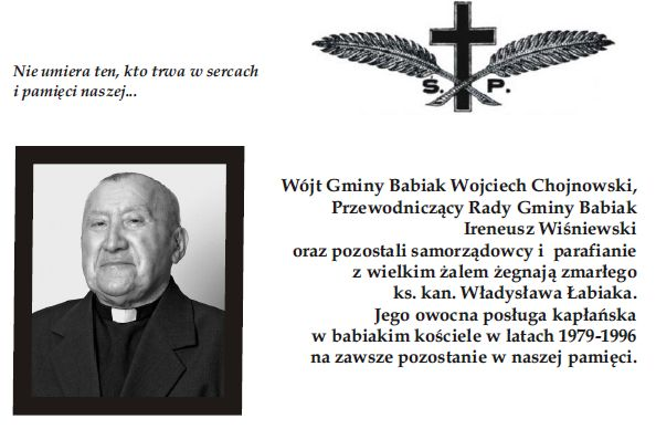Pożegnanie księdza kanonika Władysława Łabiaka.