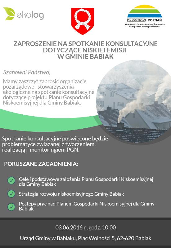 Spotkanie konsultacyjne oświecone problematyce związanej z tworzeniem, realizacją, i monitoringiem Planu Gospodarki Niskoemisyjnej.