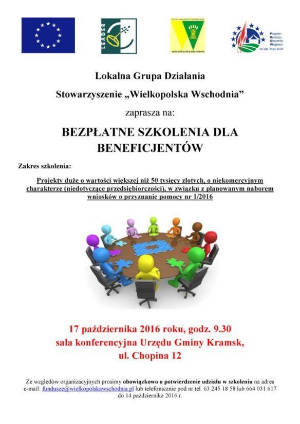 Szkolenie dla beneficjentów - duże projekty Stowarzyszenie Wielkopolska Wscghodnia.