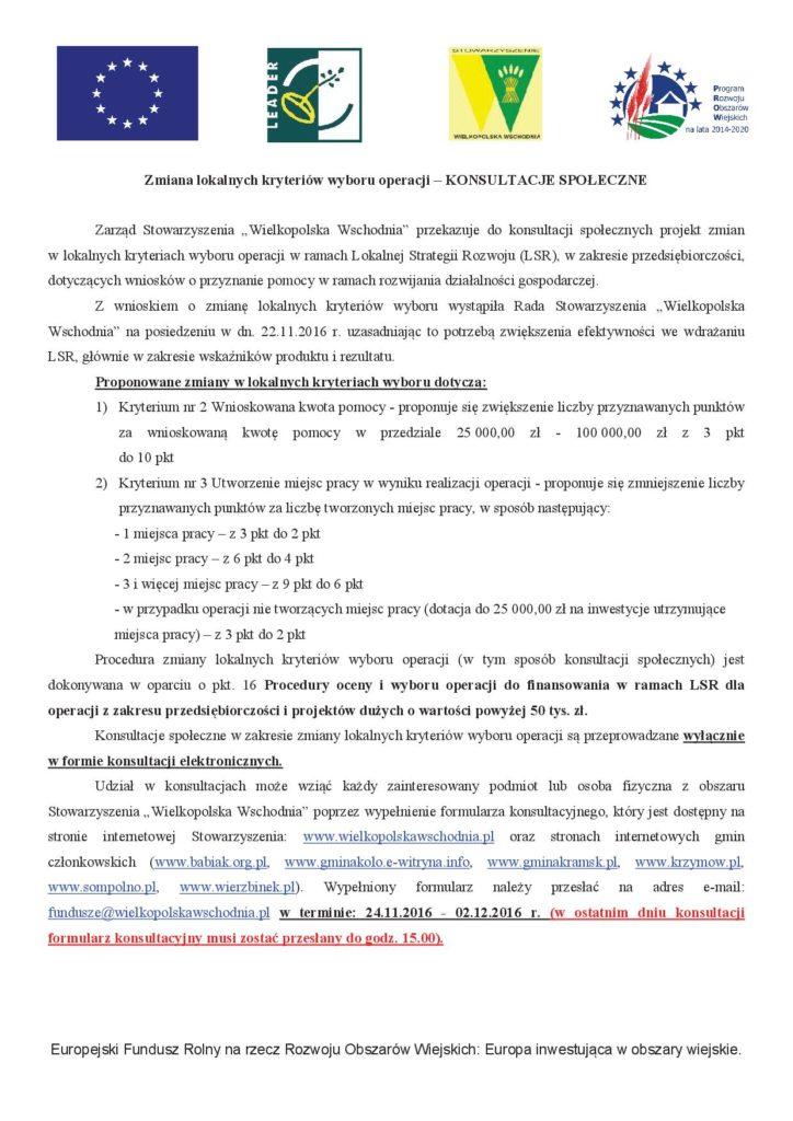 Konsultacje społeczne stowarzyszenie wielkopolska wschodnia