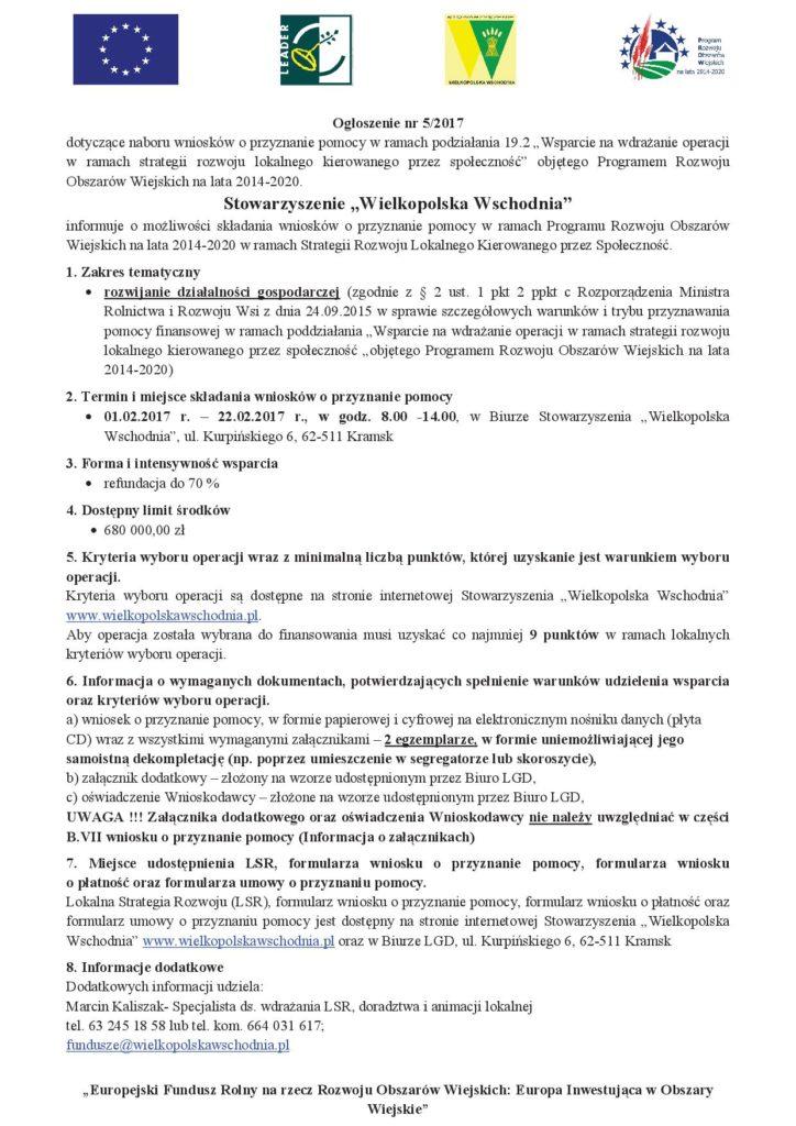 Dofinansowanie do rozwijania działalności gospodarczej. Stowarzyszenie Wielkopolska Wschodnia.