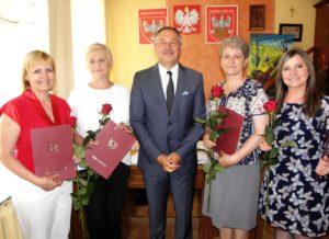 Wręczenie nagród gminy babiak.