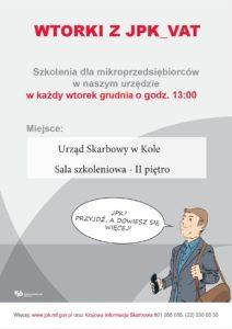 Plakat dotyczący Jednolitego pliku kontrolnego