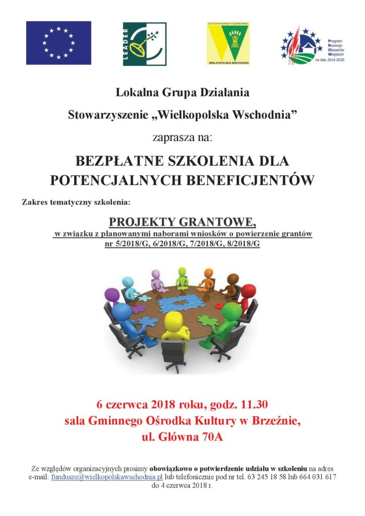 Szkolenie dla beneficjentów , informacje Stowarzyszenie Wielkopolska Wschodnia