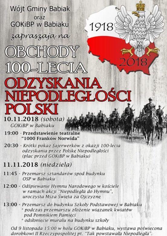 obchody 100-lecia niepodległości