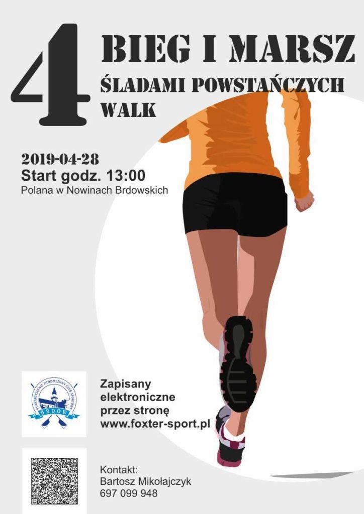 Bieg Śladami powstańczych walk 28-04-2019 godz. 13:00 Polana w nowinach brdowskich.