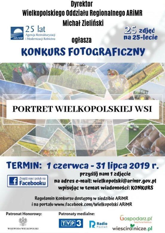 Plakat konkurs fotograficzny organizowany przez ARiMR