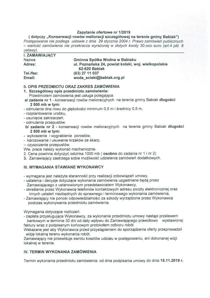 Zapytanie konserwacja rowów spółka wodna str 1 więcej informacji 632711071