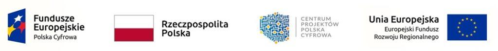 Loga Funduszy Europejskich, Flaga Rzeczpospolitej npolskiej, logo, centrum projektów cyfrowa szkoła, logo unia europejska.