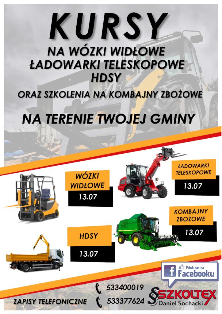 Kursy na wózki widłowe, hsd, itp. więcej informacji www.szkoltex.pl