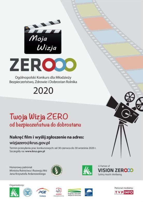 Plakat Vision Zero KRUS