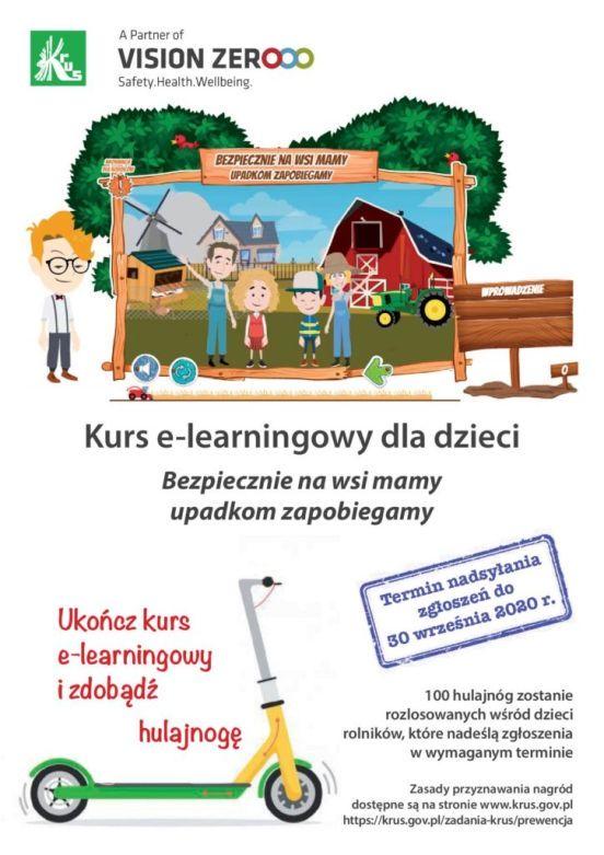 Plakat kursu e-lerning KRUS