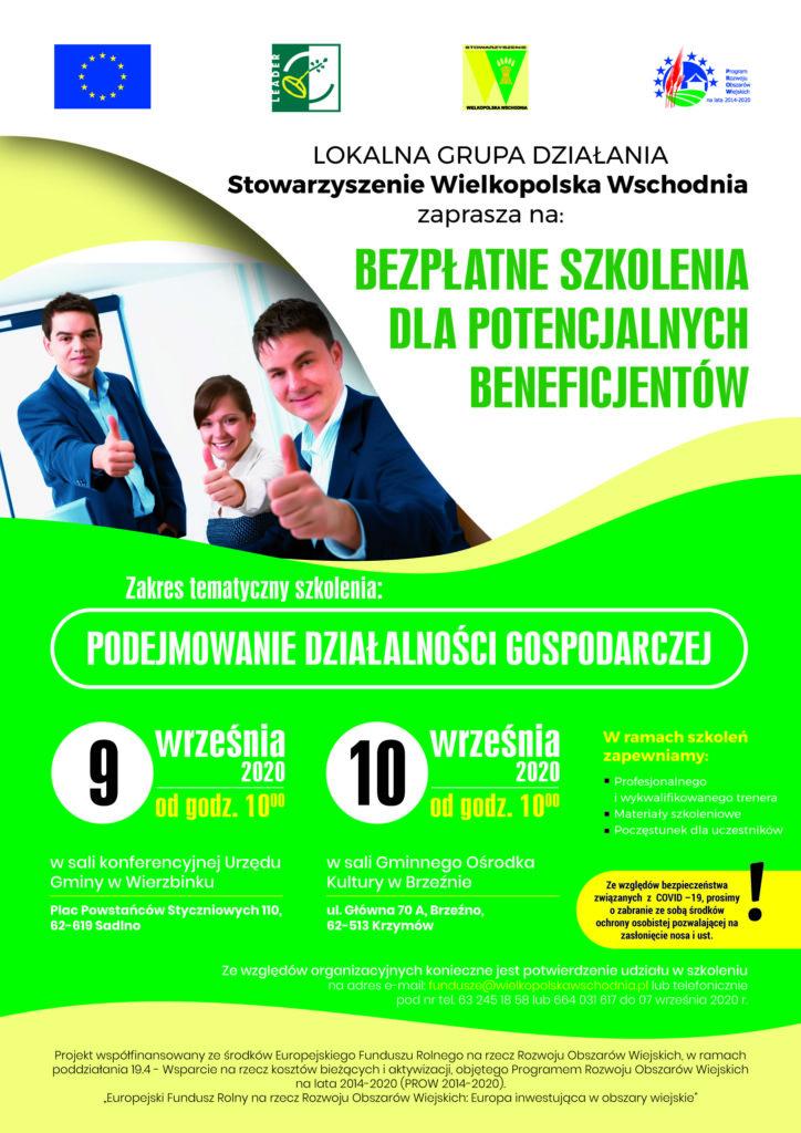 Bezpłatne szkolenia dla beneficjentów programów Wielkopolska Wschodnia