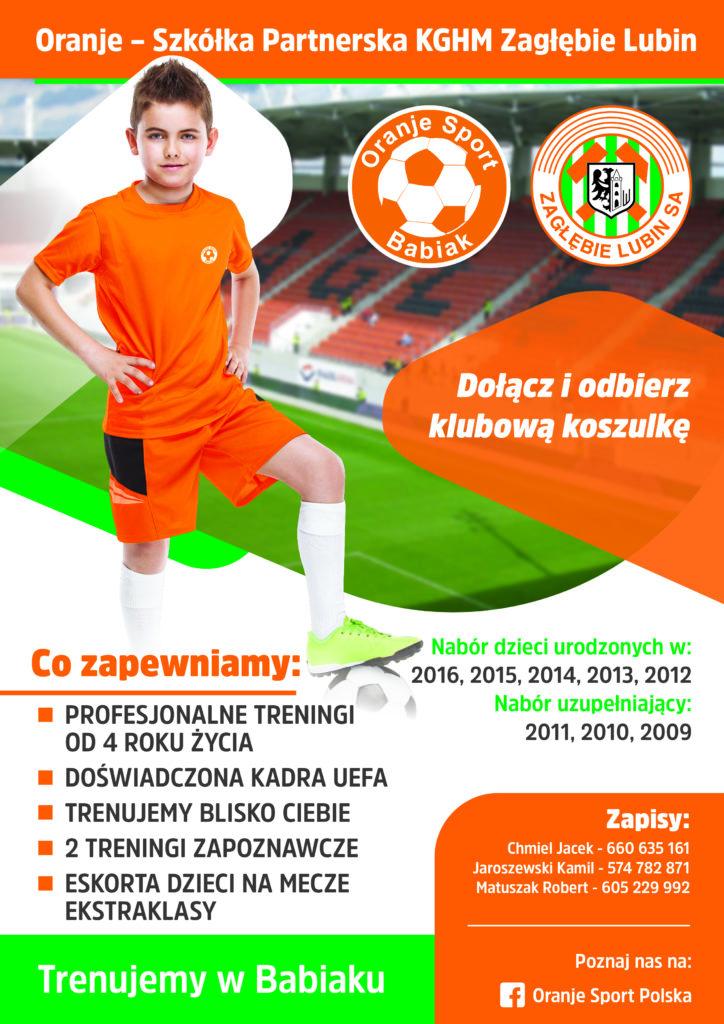 Plakat - Szkółka Piłkarska Oranje