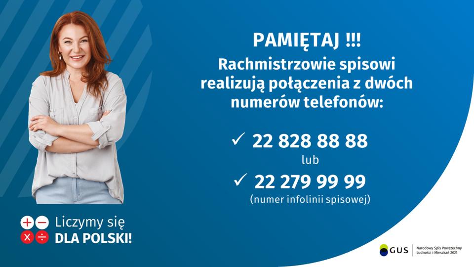 Rachmistrzowe realizują spis z dwóch numerów telefonów: 22 828 88 88 lub infolinni sipowej 22 279 99 99