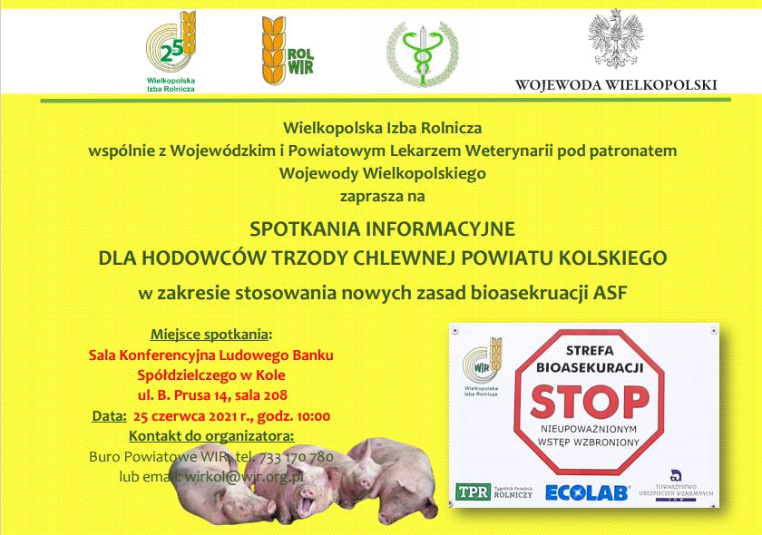 Informacja wielkopolskiej izby rolniczej